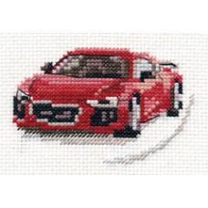 Набор для вышивания крестом Алиса Красный спорткар (0-157)