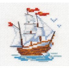 Набор для вышивания крестом Алиса Кораблик (0-159)