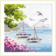 Набор для вышивания крестом Алиса Вид на море (0-203)