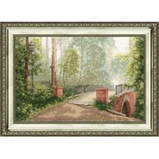 Набор для вышивания крестиком Золотое руно Мост в старом парке (00-006)