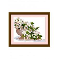 Набор для вышивания крестиком Дантель Весна в букете (001)