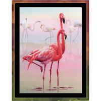 Набор для вышивания крестом Риолис Розовый фламинго (РТ-0012)
