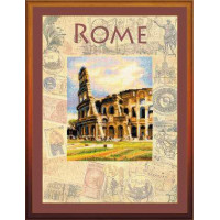 Набор для вышивания крестом Риолис Город мира. Рим (РТ-0026)