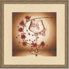 Набор для вышивания крестиком Золотое руно Отражение бабочки (ПС-003)