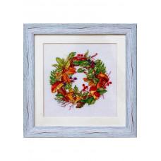 Набор для вышивания крестиком Дантель Веночек лесной (003 W)