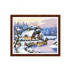 Набор для вышивания крестиком Дантель Зимняя сказка (004)