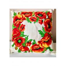 Набор для вышивания крестиком Дантель Подушка Маки (004 П)