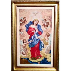 Набор для вышивания крестиком Дантель Богородица развязывающая узлы (005 R)