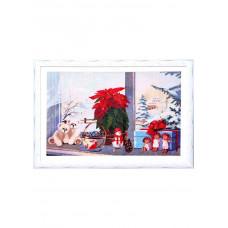Набор для вышивания крестиком Дантель Накануне Рождества (009)