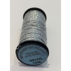 Металлизированная нить Kreinik Medium #16 Braids 001HL