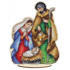 Набор для вышивания крестом М.П.Cтудия Святое семейство (О-026)