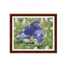 Набор для вышивания крестиком Дантель Голуби (050)