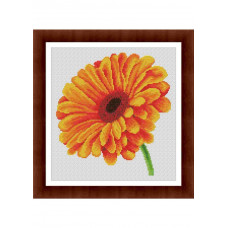 Набор для вышивания крестиком Дантель Гербера оранжевая (055.3 Д)