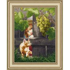 Набор для вышивания крестиком Золотое руно За виноградом (ЧМ-059)