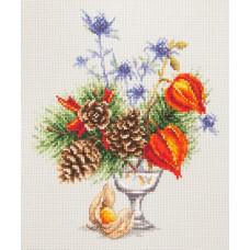Набор для вышивания крестиком Чудесная игла Зимний букетик (100-001)