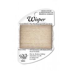 W63 - Pale Beige Heather Wisper Yarn
