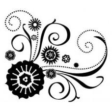 Штамп Цветы - Flower Scroll (98873)