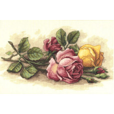 Набор для вышивания крестом Dimensions Срезанные розы (13720)