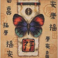 Набор для вышивания крестом Dimensions Восточная бабочка (35034)