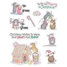Штампы Рождественские мышки - Christmas House Mouse Kit (CSHM048)