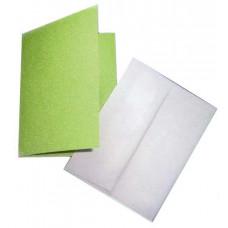 Заготовка для открытки, Салатовая блестящая (CM-028-00006/449082) (2)