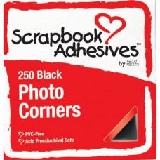 Уголки для фото, чёрные (01669/574913)