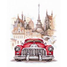 Набор для вышивания крестиком Чудесная игла Ретро-автомобиль. Бьюик (110-021)