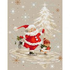 Набор для вышивания крестом Luca-S Дед Мороз (B1118)