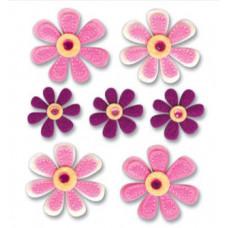 Фетровые наклейки Весенние цветы (SPJB297)