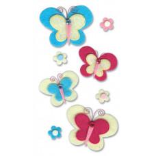 Фетровые наклейки Светлые бабочки (SPJBLG205)