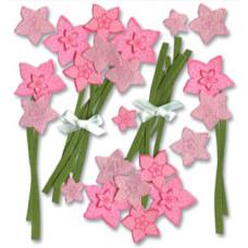 Наклейки блестящие Розовый цвет (SPJB230)