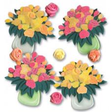 Наклейки блестящие Тюльпаны и розы (SPJB235)