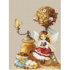 Набор для вышивания крестом Luca-S Kофейная фея (B1132)