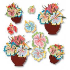 Наклейки блестящие Цветы в горшочках (SPJB266)