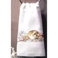 Полотенце для рук, лица, махровое, белое (114076/4094)
