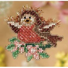Набор для вышивания Mill Hill Птенец малиновки (MH188103)