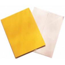 Заготовка для открытки с конвертом, Жёлтый лён (14 х 10,5) Textured cards - CM-025-00012 (7)