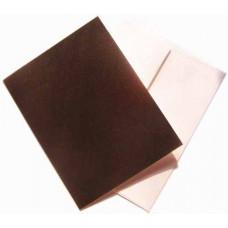 Заготовка для открытки с конвертом, Чёрный лён (14 х 10,5) Textured cards - CM-025-00012 (12)