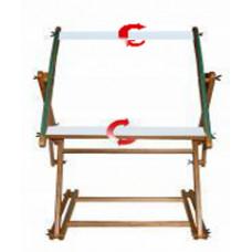 Станок напольный, рама 60х100 см, с корсажной лентой, липкой лентой и вращающимися планками (П60-100)