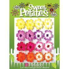 Бумажные цветы Sweet Petites Mulberry Delphiniums - Fusch/Orange/Yellow/Lav (1311-130)