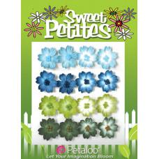 Бумажные цветы Sweet Petites Mulberry Delphiniums - Chart/Lt.Blue/Dk.Blue/Dk.Green  (1311-221)