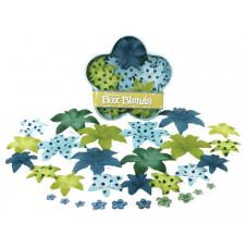 Шелковые цветы Dahlia Box Blend - Lt.Blue/Dk.Blue/Green/Chart  (1245-221)