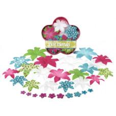 Шелковые цветы Dahlia Box Blend Large - Teal/Fusch/Chart/White  (1244-225)