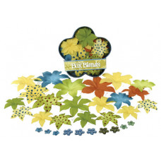 Шелковые цветы Dahlia Box Blend Large - Yellow/Brown/Dk.Blue/Green  (1244-226)