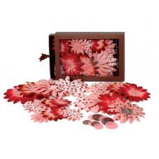 Шелковые цветы Daisy Box Blend Large - Cupcake Pink/Red  (1240-161)