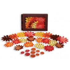 Шелковые цветы Daisy Box Blend Small - Yellow/Brown/Orange/Red  (1241-224)
