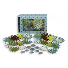 Шелковые цветы Daisy Box Blend Small - Guys Blue/Brown  (1241-181)