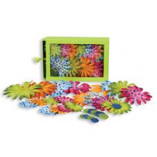 Шелковые цветы Daisy Box Blend Large - Orange/Blue/Green/Pink  (1240-210)