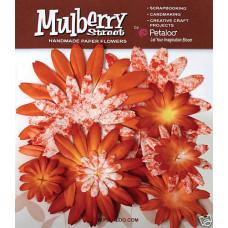 Бумажные цветы Mulberry St. Daisies Large - Tye Dye Orange (1310-003)