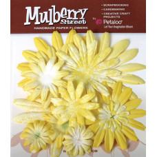 Бумажные цветы Mulberry St. Daisies Large - Tye Dye Yellow (1310-004)
